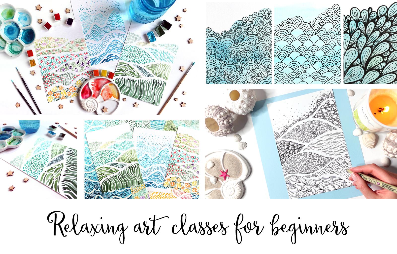 Relaxing art classes for beginners
